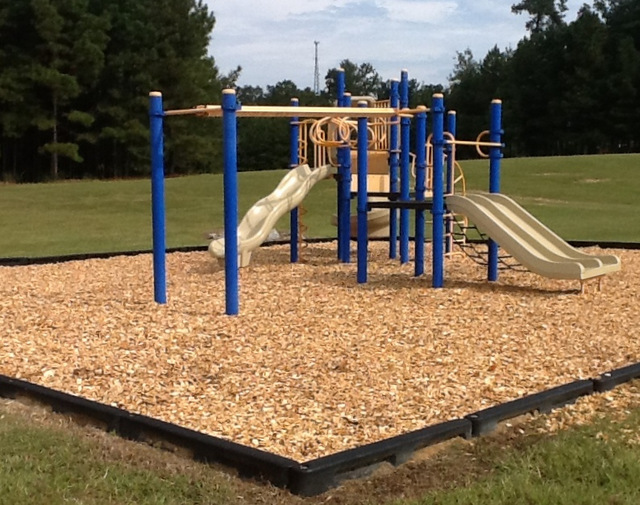 school playground mulch soft landing certified